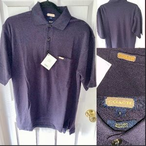 Men's Coach Navy Polo Shirt Size Small
